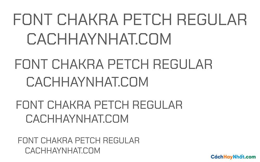 Font Chakra Petch Regular