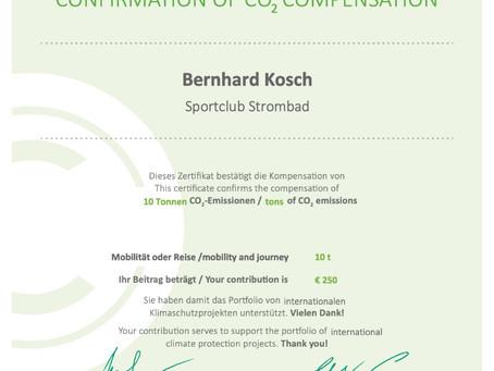 Unser Kompromiss – Co2-Kompensation