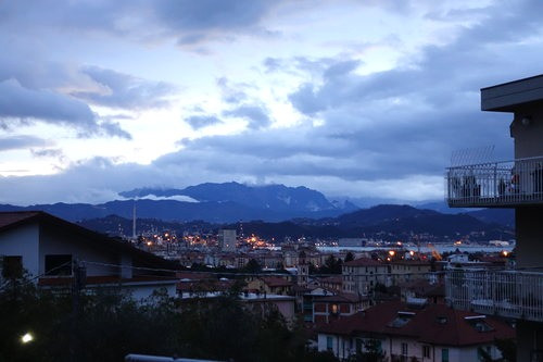 The view from our Airbnb in La Spezia!