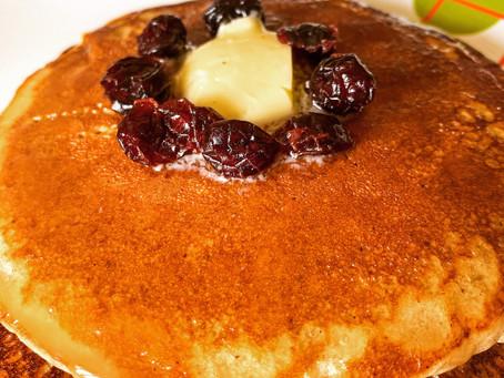 Eggless Cinnamon Pancakes