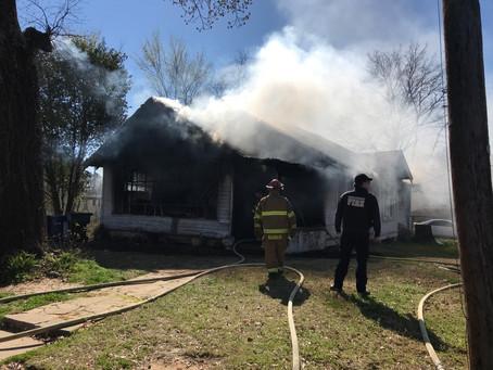 Firefighers Respond to Herndon Street House Fire