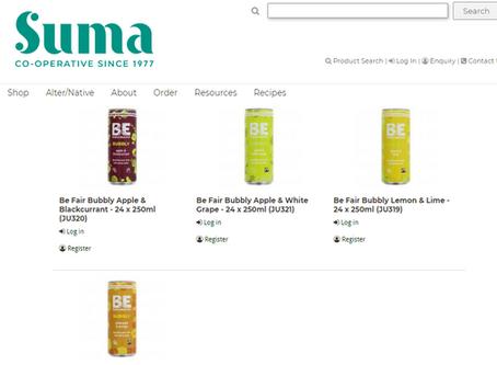 BE BUBBLY Now available in Suma Wholefoods www.sumawholesale.com