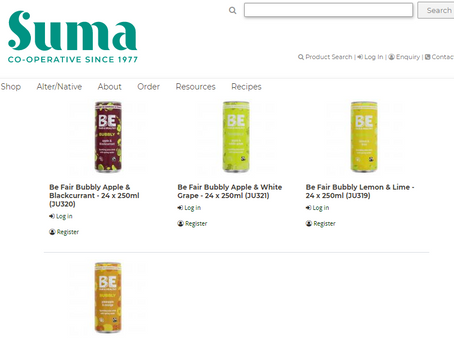 BE BUBBLY Now available in Suma Wholefoods www.sumawholesale.com