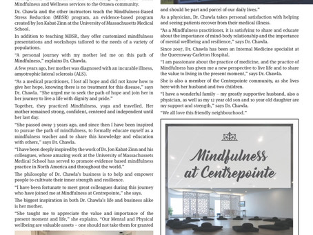 """Mindfulness at Centrepointe """"A Legacy of Hope"""""""