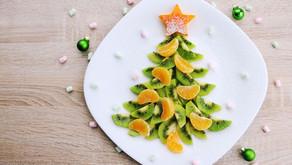 Fit vánoční stromeček z kiwi a mandarinek