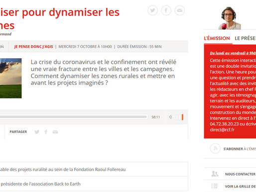 "Interview Back To Earth  Emission ""Je pense donc j'agis"" - Se mobiliser pour dynamiser les campagnes"