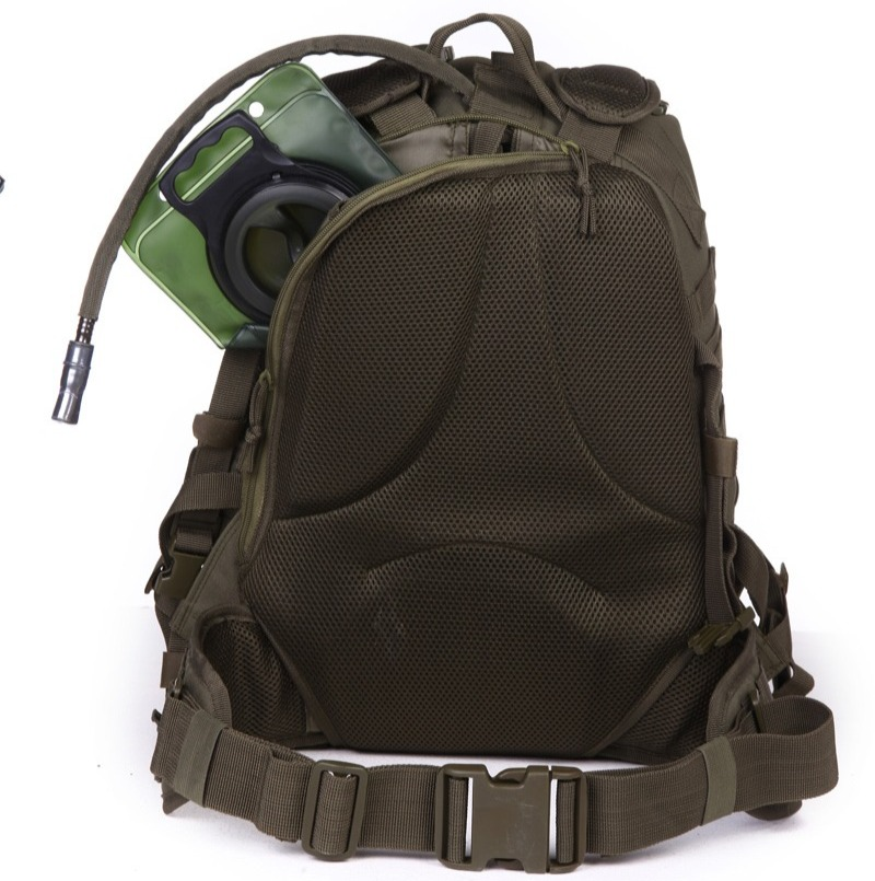 Tactical survival kit with hydration bladder