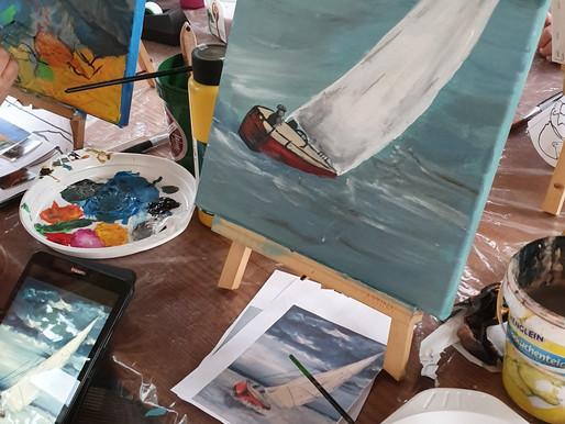 """ArtSession - Beim """"Freien Malen"""" ein Motiv deiner Wahl kreieren"""