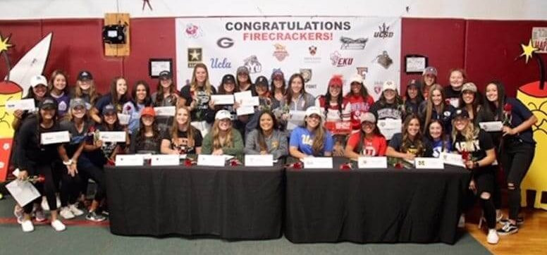 On Signing Day evening--Wednesday, November 14, 2018--Firecracker recruits gathered to sign letters of intent to continue their athletic and academic pursuits at schools ranging from Army-West Point to Utah, with Big Ten, Pac-12, SEC, Ivy League and may others represented