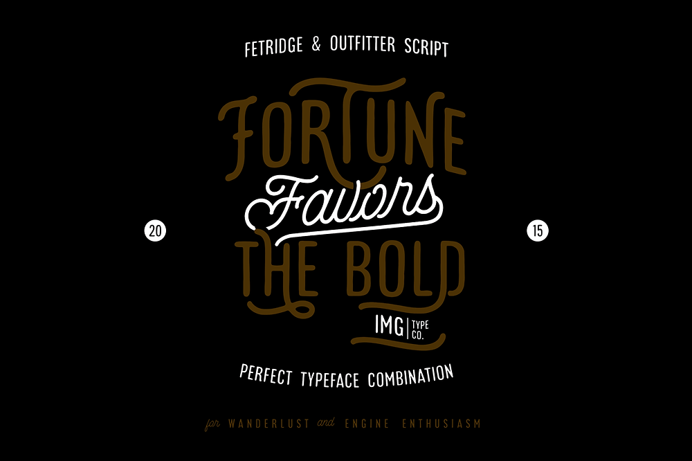 Font iCiel Outfitter Script and Fetridge