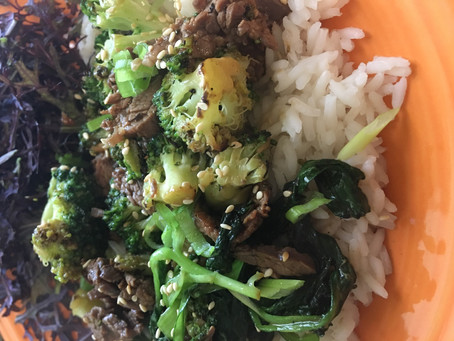 Beef with Broccoli and Bok choy