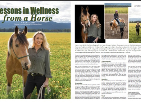 406 Woman Magazine: Lessons in Wellness from a Horse