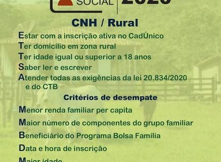 INSCRIÇÕES PARA A CNH SOCIAL VÃO ATÉ O DIA 17 DE OUTUBRO