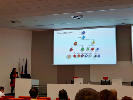 Jayna presenting data at meeting in Prague today!