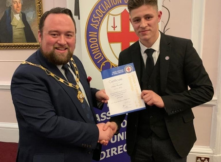 Josh Brunskill follows in Fathers footsteps and receives his first professional qualification...