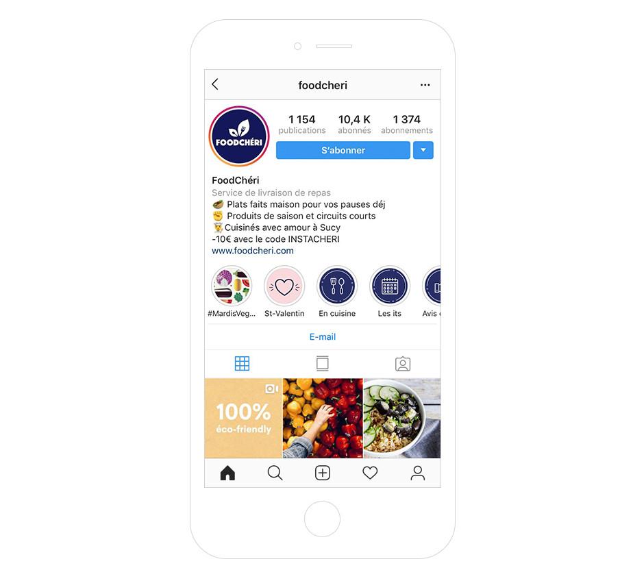 Foodcheri - Bio instagram