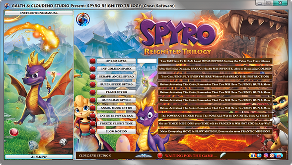 Spyro Reignited Trilogy, Spyro, Cheats, Mod, Modding, Tip, Sparx, Infinite Ability, All The Gems, Trick, Cloudend Studio,