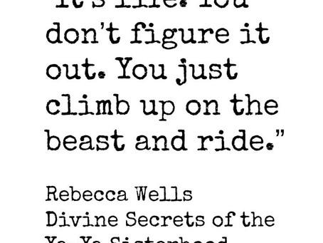Climb up and ride.