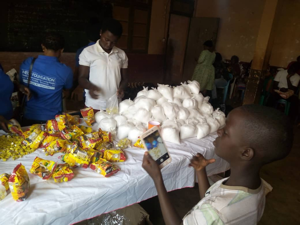 Maggi, Salt, oil, rice shared to the IDPs in Dschang, Menoua Division