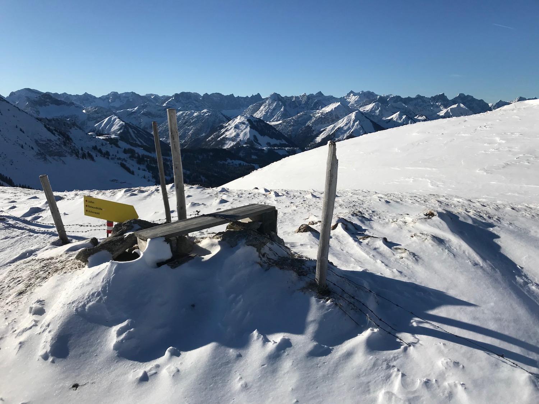 Wegweiser, Skitour Juifen Achenkirch