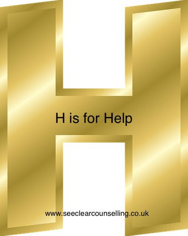 Gold Letter H for Help