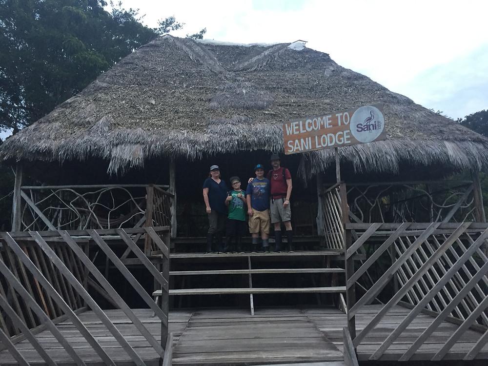 Canoe landing doc at  Sani Lodge Ecuador.