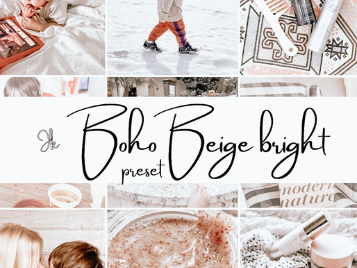 Boho Beige Preset Preview