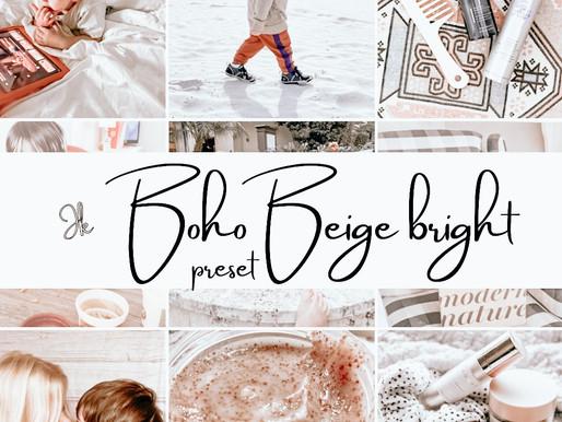 Boho Beige Preset Preview