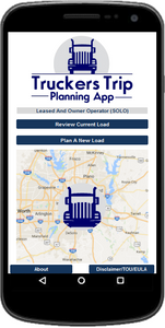 Solo Lease and Owner Operator Truckers Trip Planning App