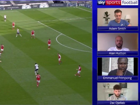 Emanuel Frimpong on Sky Sports Watchalong for the North London Derby