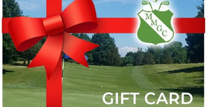 Give the gift that keeps on giving...a Gift Card from McCann Memorial Golf Course