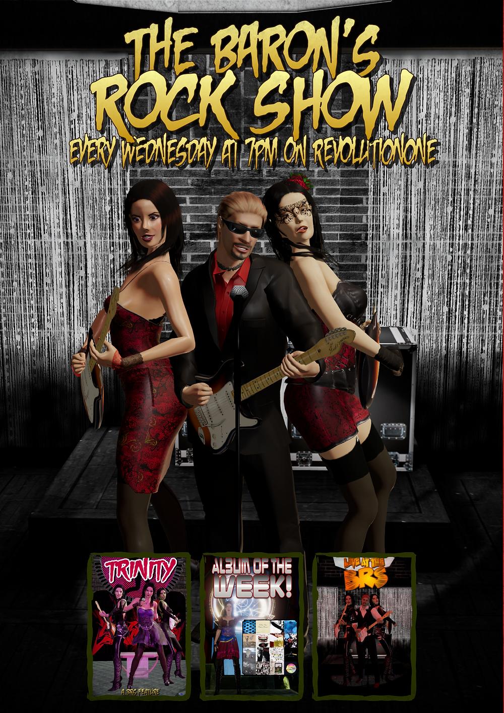 Promo for The Baron's Rock Show on revolutionradio.online