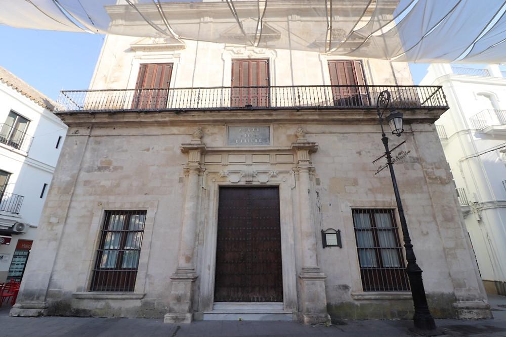 Municipal Library exterior in Sanlucar de Barrameda, Cadiz, Spain