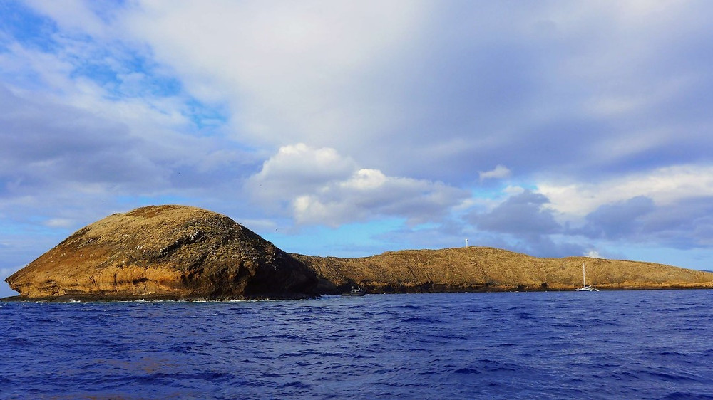 sea level view of Hawaii's Molokini