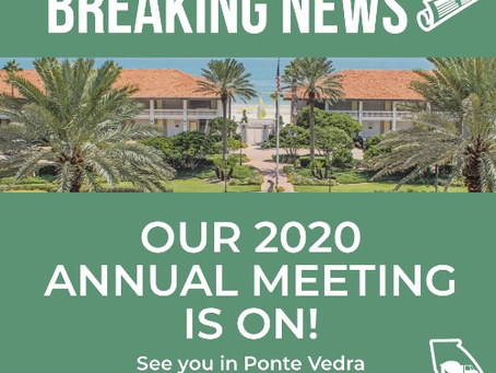 Join us July 23-26 in Ponte Vedra Beach for our 52nd Annual Meeting!