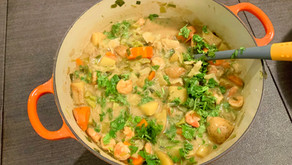 Simple Veggie and Shrimp Curry