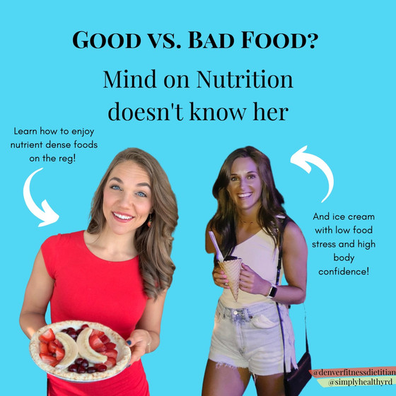 Good Food Versus Bad Food? Mind on Nutrition Doesn't Know Her
