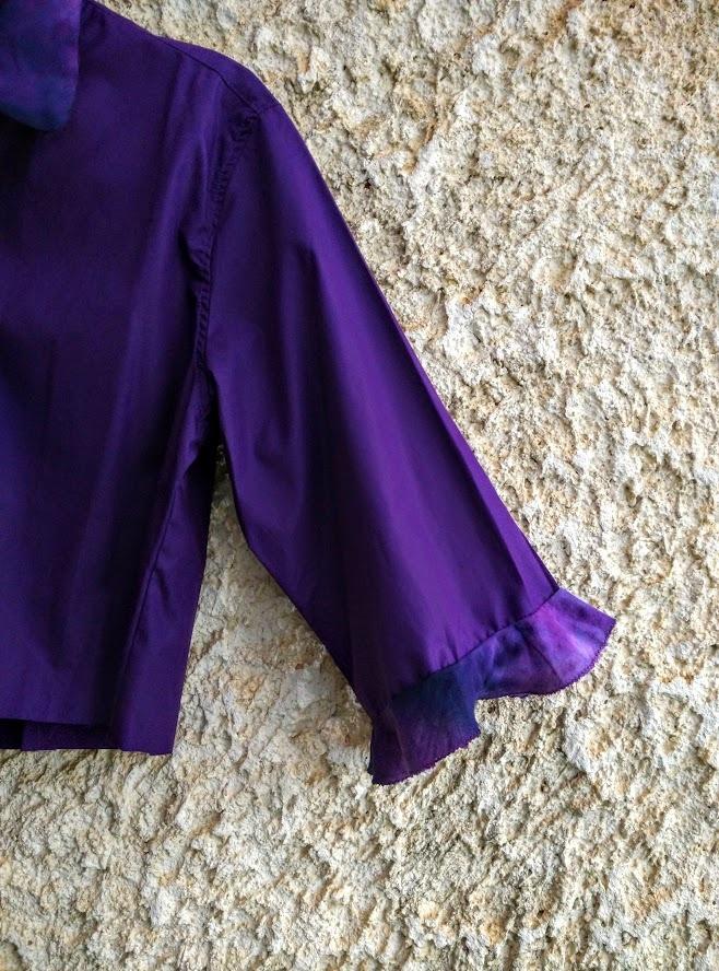 3/4 sleeve with a tie dye flounce