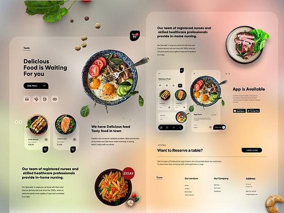 Food Mobile APP Landing UX-UI Design