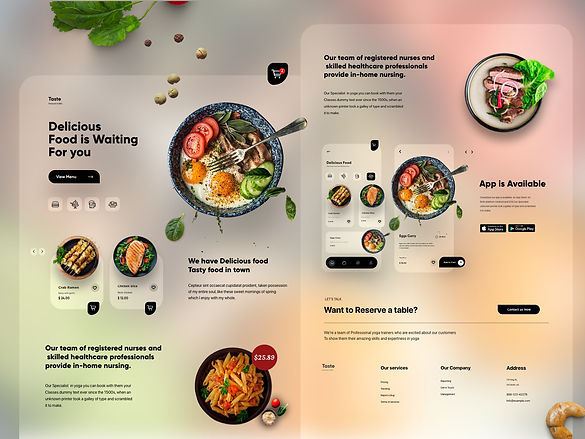 Food Mobile APP Landing UX-UI Design