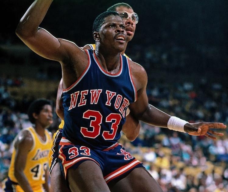 Patrick Ewing Kareem Abdul Jabbar New York Knicks Los Angeles Lakers nba Around the game