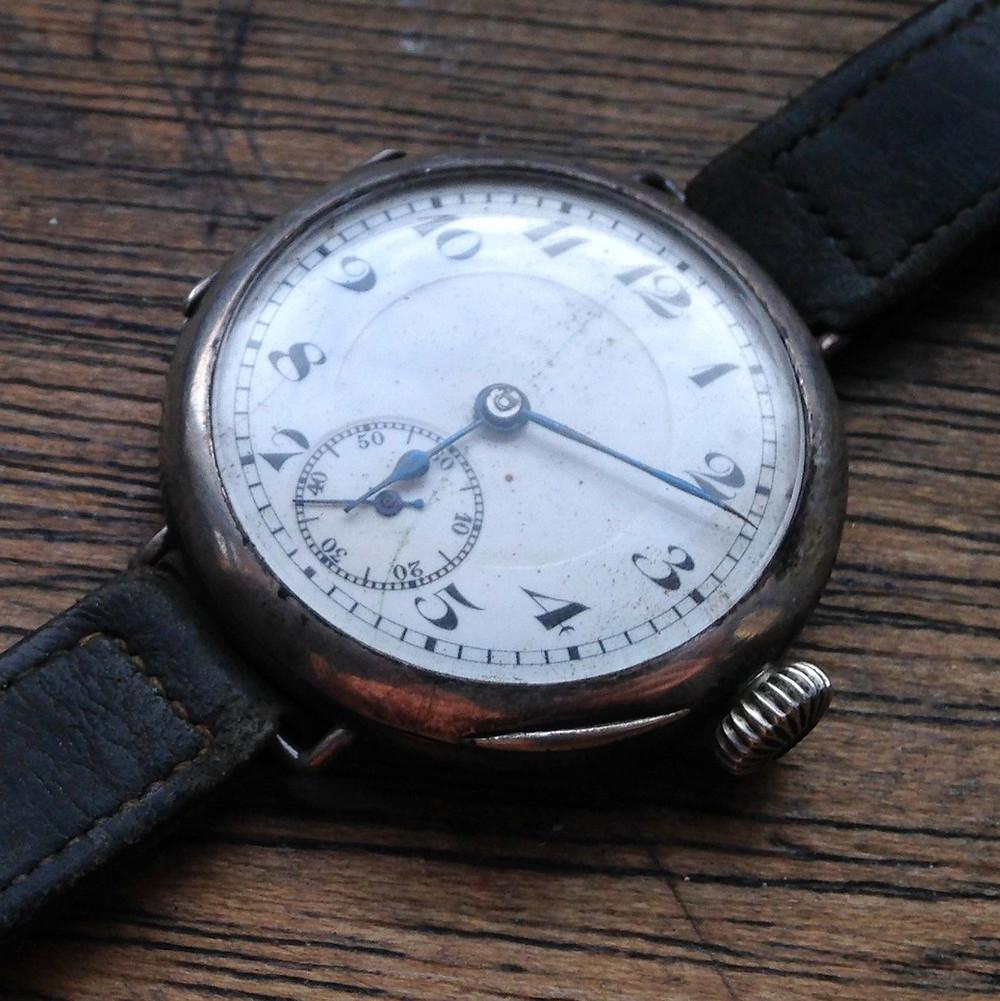 Helvetia Watch Hallmarked London 1924 possibly Aeroplane