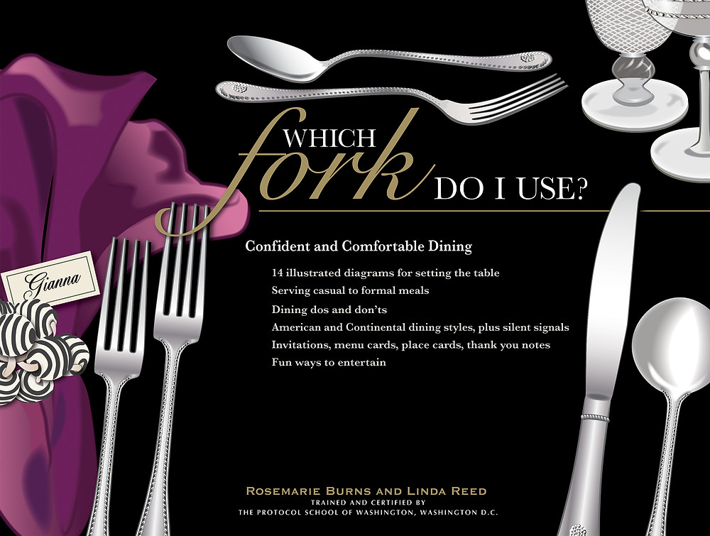 "At last, a dining book for everyone ~ from the apartment dweller to the villa owner. Which Fork Do I Use?   is a thorough and comprehensive guide to entertaining. There is no need to panic about throwing great parties, from a simple breakfast to an all-out multi-course extravaganza. Rosemarie and Linda guide you through the preparation and execution for success.  Whether you are the host or guest, the art of entertaining is an intricate part of our social fiber. Traditions and protocol are what make an event impressive. The details and illustrations are easy to follow, with helpful tips and suggestions. After reading this book, you will gain newfound confidence the next time you are entertaining family, friends, or your boss.  Break out those lovely old dishes and silverware and show everyone how it's done with a smile!""  ~ Seamus Mulhall has worked two decades in fine dining establishments in San Francisco. Exxon-Mobil travel guide awarded him ""best of the best in service and excellence"" in recognition of his work as a Captain at Gary Danko. He has coordinated the service and protocol for waiting on presidents, celebrities, and lovely folks like you and me."