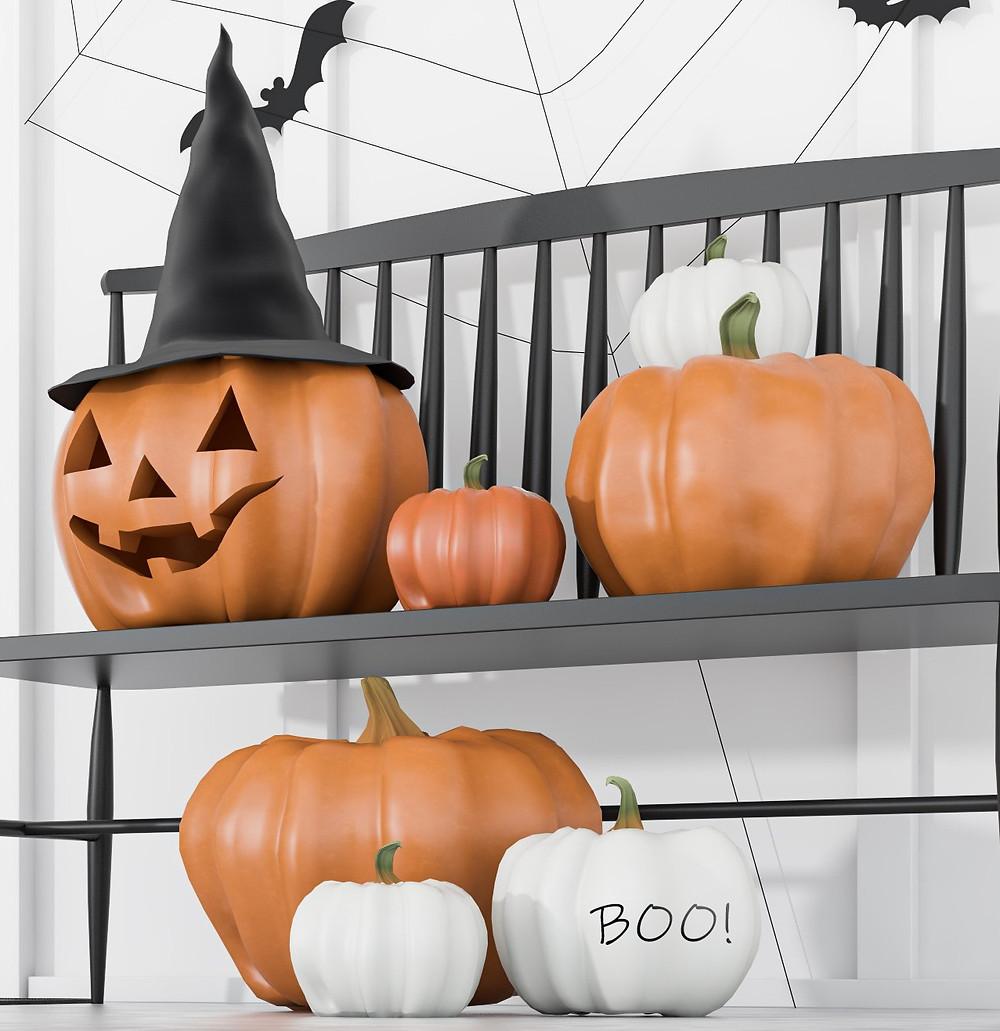 Kürbis Halloween Deko