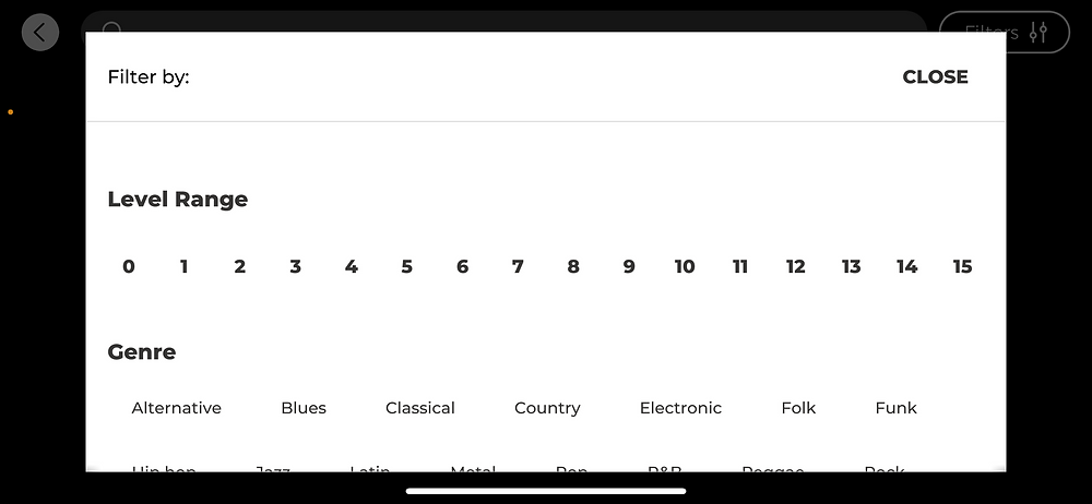 yousician app song search