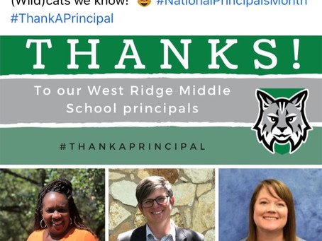 Eanes ISD National Principals Month