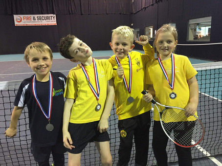 Runners-Up at Tennis Competition