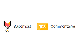 Airbnb Superhost with 100 reviews !