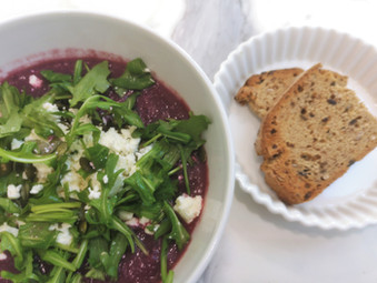 Warming & aromatic beetroot soup