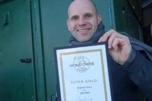 Bo Jensen med World Cheese Awards Super gold